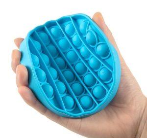 Pop It - Fidget Toy - Ljusblå Rund
