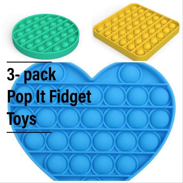 Pop It - Fidget Toy - 3- pack