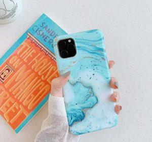 Cyan Marble - iPhone 11 Skal