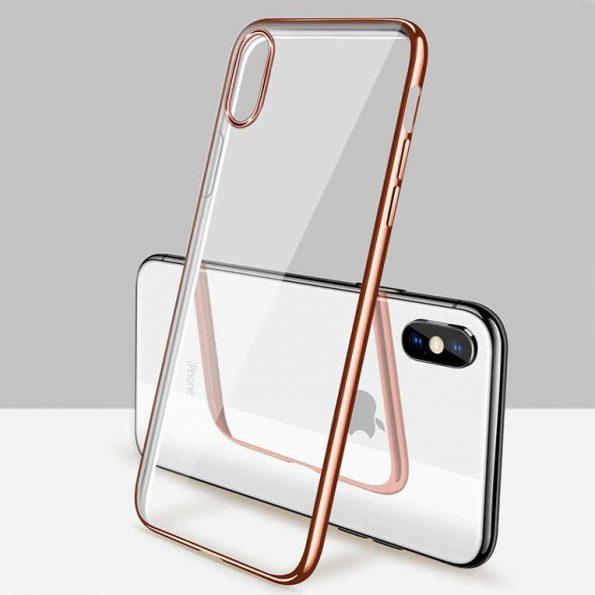 Luxury Slim Bumper - iPhone x skal - Brons