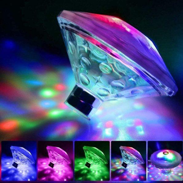 Water Light Show - Pool- & Badkarsbelysning - flytande discolampa