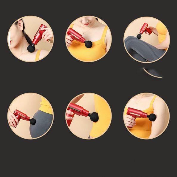 Massage Gun Fitness - Massagepistol - Silver
